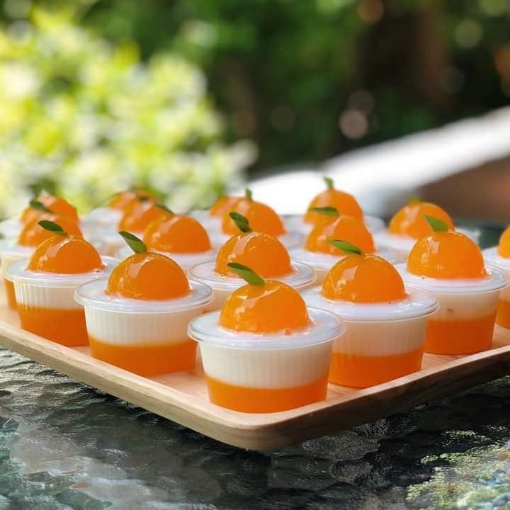 วุ้นส้มนมชมพู