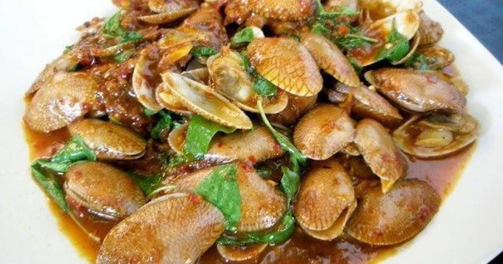 เมนูอาหารจากหอยลาย